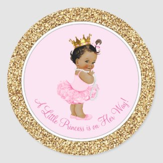 Ethnic Ballerina Princess Pink Gold Baby Shower