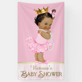 Ethnic Ballerina Tutu Pearl Baby Shower Banner