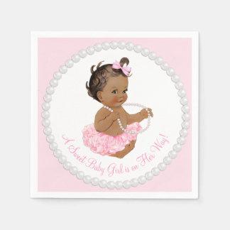 Ethnic Ballerina Tutu Pearl Baby Shower Napkin