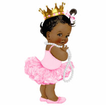 Ethnic Ballerina Tutu Princess Baby Girl Shower Statuette
