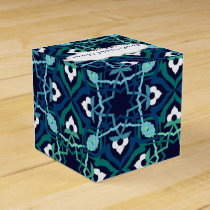 Ethnic Blue Personalized favor boxes