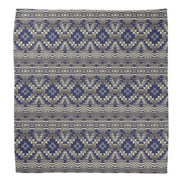Aztec Themed ethnic bohemian golden pattern bandana