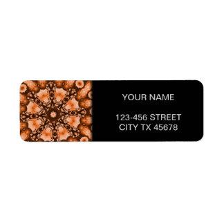 Ethnic Bohemian Mandala brown orange tiedye Trippy Label