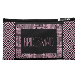Ethnic Boho Will you be my Bridesmaid Gift 3 Makeup Bag