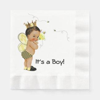 Ethnic Boy Bumble Bee Baby Shower Napkin