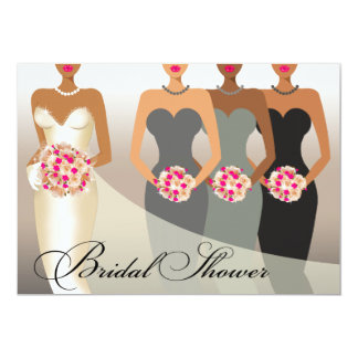 ETHNIC BRIDE Bridal Shower | charcoal Announcement