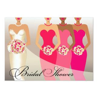 ETHNIC BRIDE Bridal Shower   fuschia Card