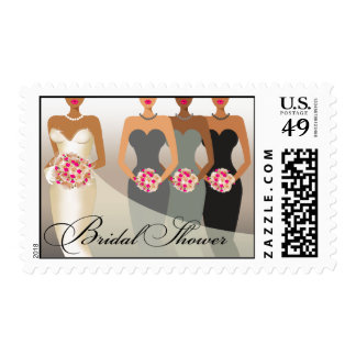 ETHNIC BRIDE Bridal Shower | gray Postage