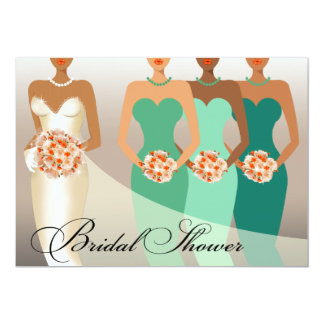 ETHNIC BRIDE Bridal Shower | green Card