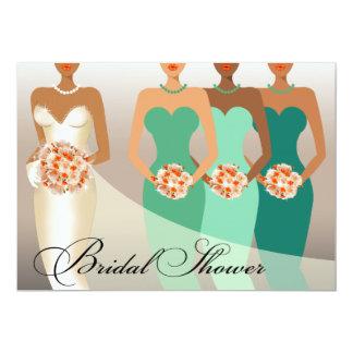 ETHNIC BRIDE Bridal Shower | green Invites
