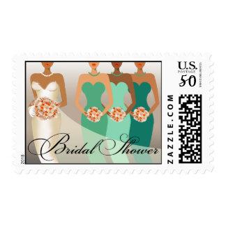 ETHNIC BRIDE Bridal Shower | green Postage
