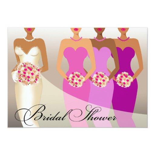 ETHNIC BRIDE Bridal Shower | purple 5x7 Paper Invitation Card