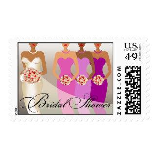 ETHNIC BRIDE Bridal Shower | purple Postage Stamp