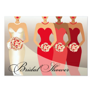 ETHNIC BRIDE Bridal Shower | red Card