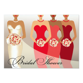 ETHNIC BRIDE Bridal Shower | red II Card