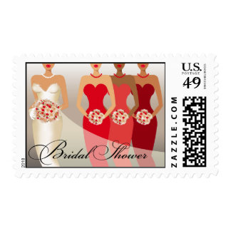 ETHNIC BRIDE Bridal Shower | red Postage