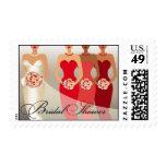 ETHNIC BRIDE Bridal Shower   red Postage Stamp