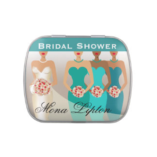 ETHNIC BRIDE Bridal Shower | teal Candy Tin