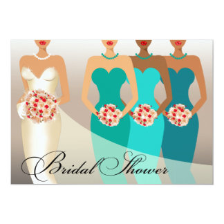 ETHNIC BRIDE Bridal Shower | teal Personalized Invite