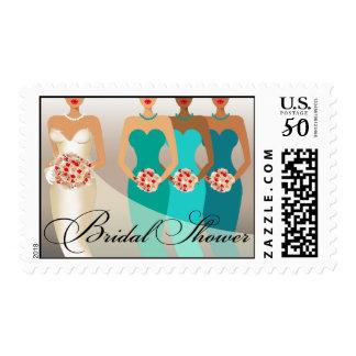 ETHNIC BRIDE Bridal Shower | teal Postage