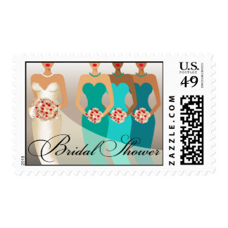 ETHNIC BRIDE Bridal Shower | teal Postage