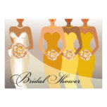 ETHNIC BRIDE Bridal Shower | yellow Personalized Announcement