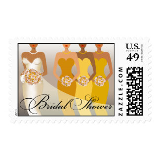 ETHNIC BRIDE Bridal Shower | yellow Postage Stamp