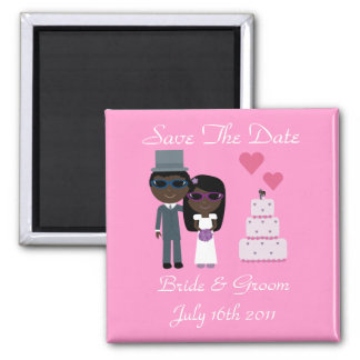Ethnic Bride & Groom Sunglasses Summer Wedding Refrigerator Magnet