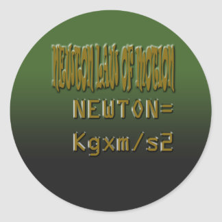 Ethnic Classic newton law of motion Classic Round Sticker
