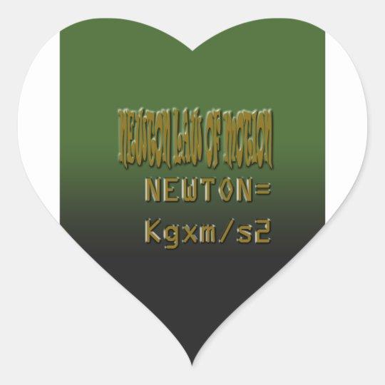 Ethnic Classic newton law of motion Heart Sticker