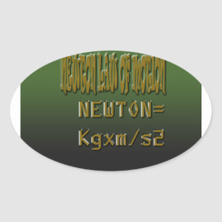 Ethnic Classic newton law of motion Oval Sticker