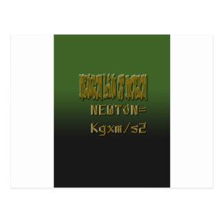 Ethnic Classic newton law of motion Postcard