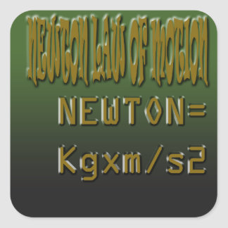 Ethnic Classic newton law of motion Square Sticker