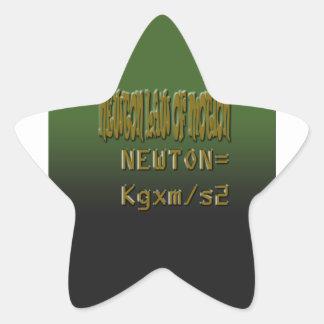 Ethnic Classic newton law of motion Star Sticker