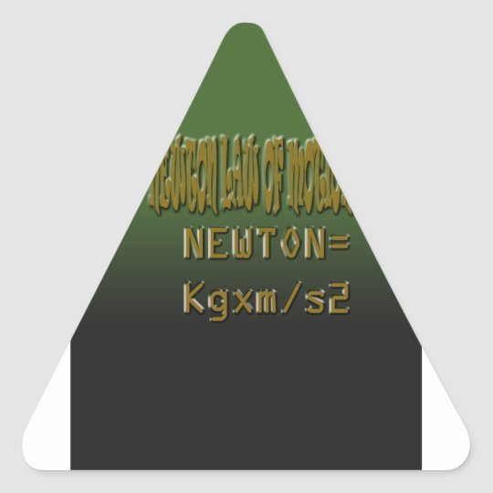 Ethnic Classic newton law of motion Triangle Sticker