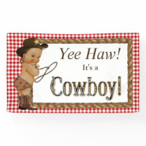 Ethnic Cowboy Baby Shower Banner