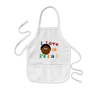 Ethnic Curly Hair Boys Face Painting Kids' Apron
