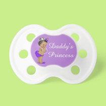 Ethnic Daddy's Princess Purple Pacifier
