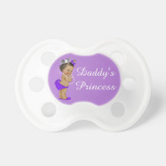 Ethnic Daddy's Princess Purple Pacifier at Zazzle