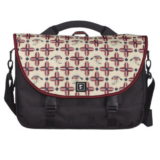 Ethnic Decorative Pattern With Birds Laptop Bags