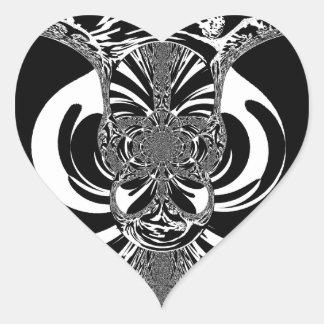 Ethnic Design Heart Sticker
