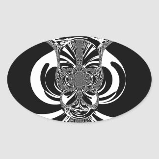 Ethnic Design Oval Sticker