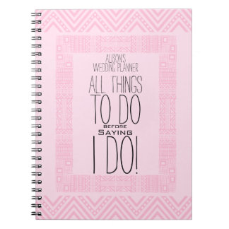 Ethnic Design Personalized Wedding Planner 2 Notebook