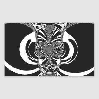 Ethnic Design Rectangular Sticker
