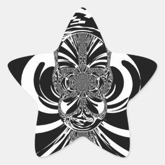 Ethnic Design Star Sticker