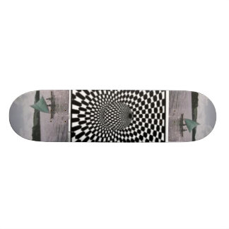 ethnic designed skateboard