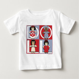 Ethnic Dolls - Red/Blue Baby T-Shirt
