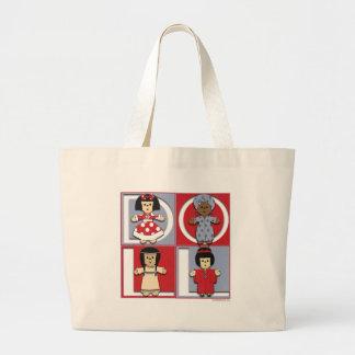 Ethnic Dolls - Red/Blue Bag