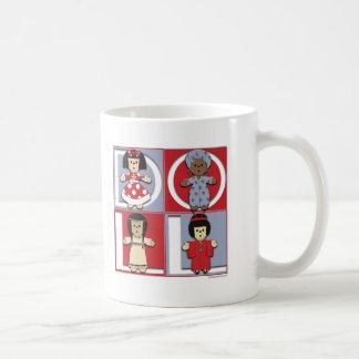 Ethnic Dolls - Red/Blue Mugs