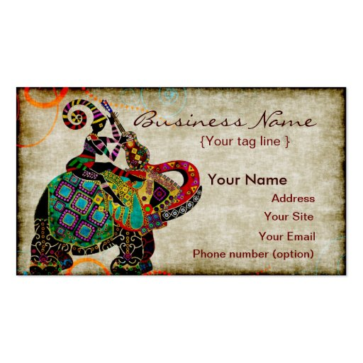 Ethnic Elefant Business Card Template